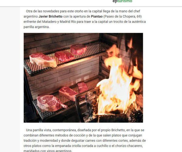 Restaurante Piantao Madrid del Chef Argentino Javier Brichetto en EuropaPress