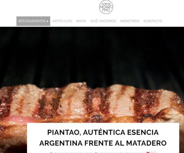 Restaurante Piantao Madrid del Chef Argentino Javier Brichetto en Con El Morro Fino