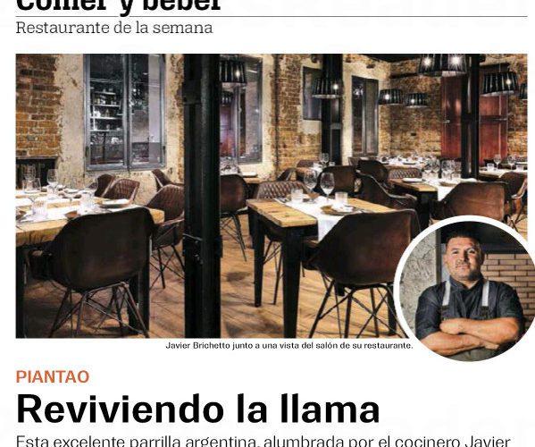 Restaurante Piantao Madrid del Chef Argentino Javier Brichetto en Guía del Ocio