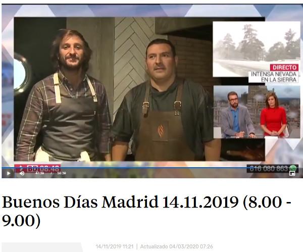 Restaurante Piantao Madrid del Chef Argentino Javier Brichetto en Buenos Días Madrid de TeleMadrid