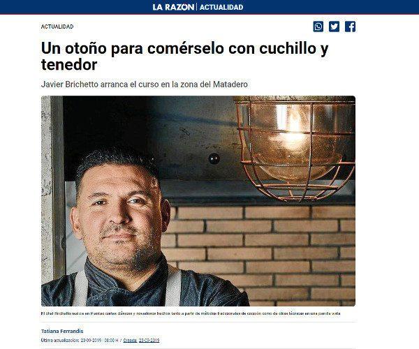 Restaurante Piantao Madrid del Chef Argentino Javier Brichetto en La Razón