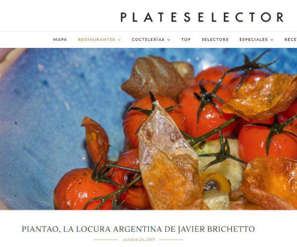 Restaurante Piantao Madrid del Chef Argentino Javier Brichetto en Plate Selector