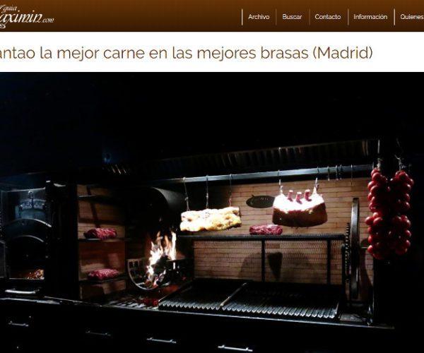Restaurante Piantao Madrid del Chef Argentino Javier Brichetto en Guía Maxim