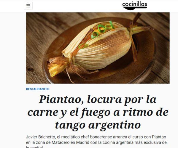Restaurante Piantao Madrid del Chef Argentino Javier Brichetto en El Cocinillas - El Españoll