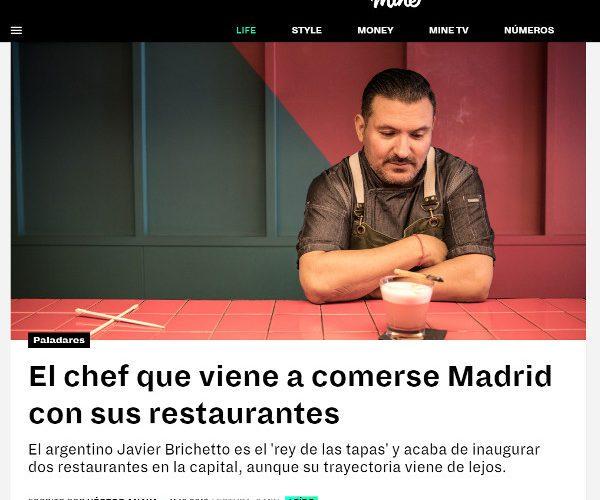 Restaurante Piantao Madrid del Chef Argentino Javier Brichetto en Revista Mine